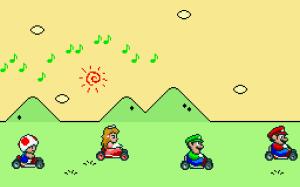 Super Mario Kart Pantalla de Inicio.