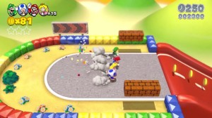 Super Mario 3d World. Nivel Tributo a Mario Kart