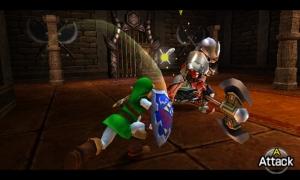 Batalla típica donde Link se deja lucir.