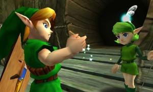 Link aprendiendo a usar su nueva y brillante Ocarina.